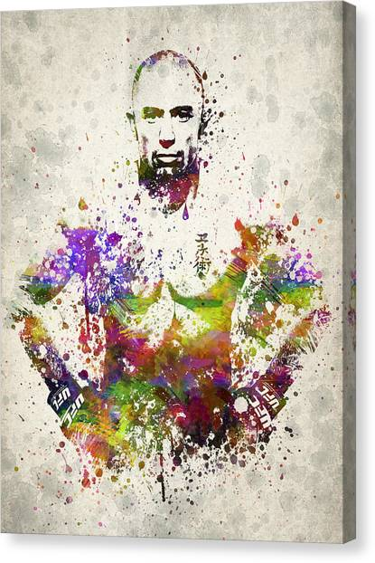 Mma Canvas Print - Georges St-pierre by Aged Pixel