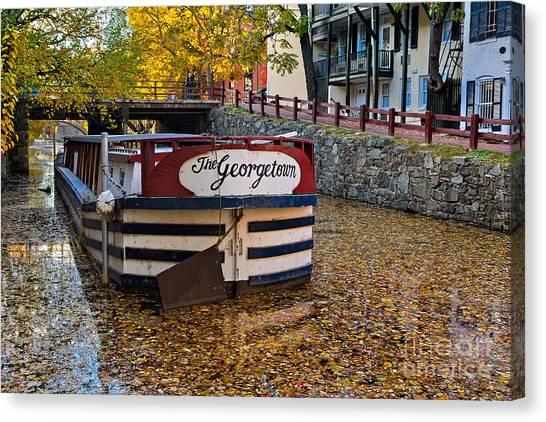 Georgetown Barge Canvas Print