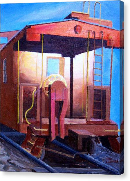 Georgetown Caboose Canvas Print