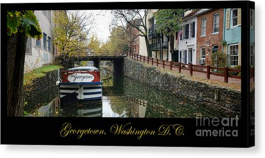 Washington D.c Canvas Print - Georgetown Canal Poster by Olivier Le Queinec