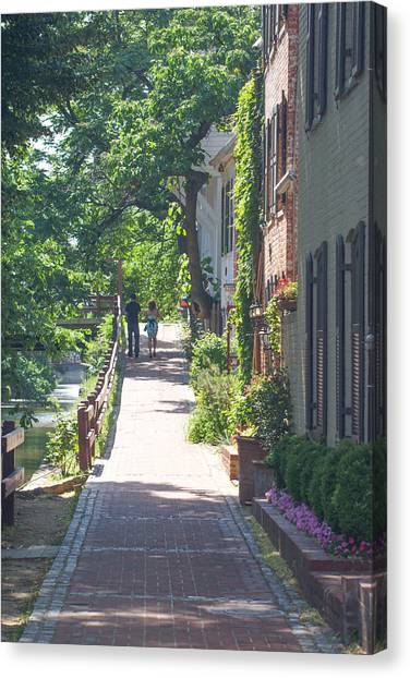Georgetown Canal Walk Canvas Print