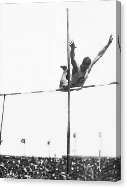 Big East Canvas Print - Georgetown Decathlon Star by Underwood Archives
