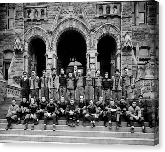 Big East Canvas Print - Georgetown Football 1910 by Benjamin Yeager