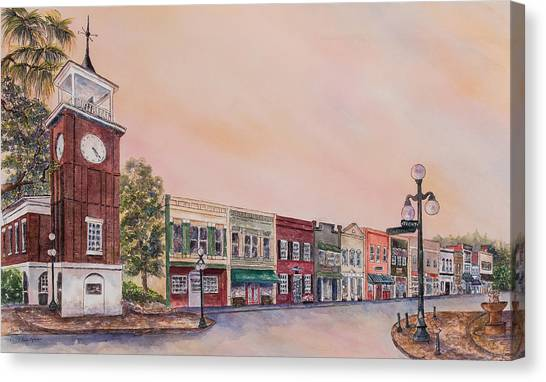 Georgetown Front Street Canvas Print