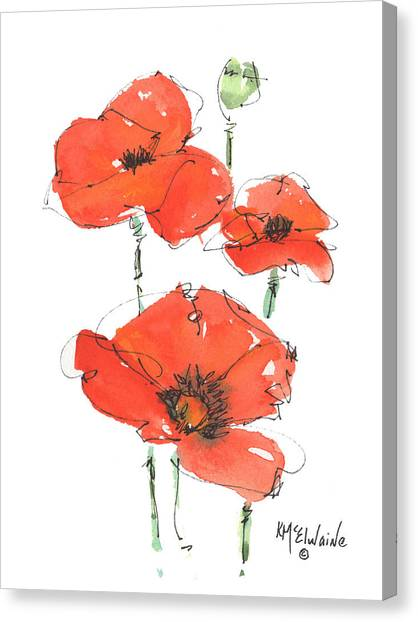 Georgetown Texas The Red Poppy Capital Canvas Print