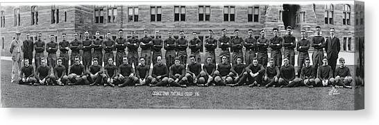Big East Canvas Print - Georgetown U Football Squad by Fred Schutz Collection