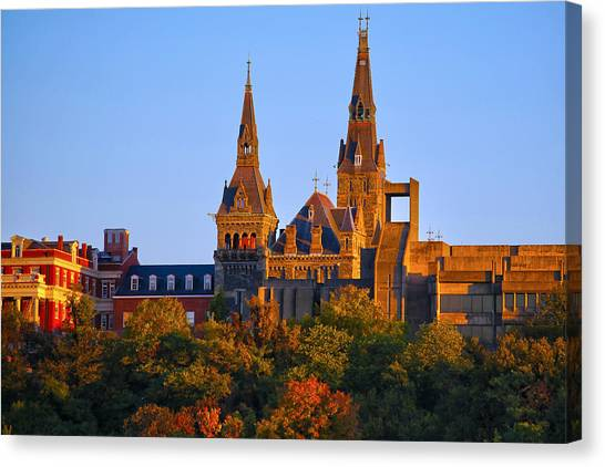 Georgetown University Canvas Print - Georgetown University by Mitch Cat