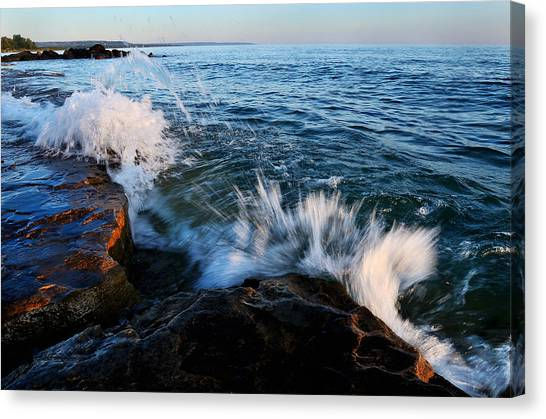 Georgian Bay Shore Surf Canvas Print