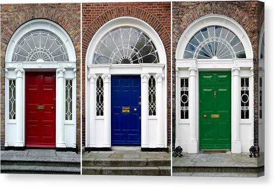 Georgian Doors - Dublin - Ireland Canvas Print
