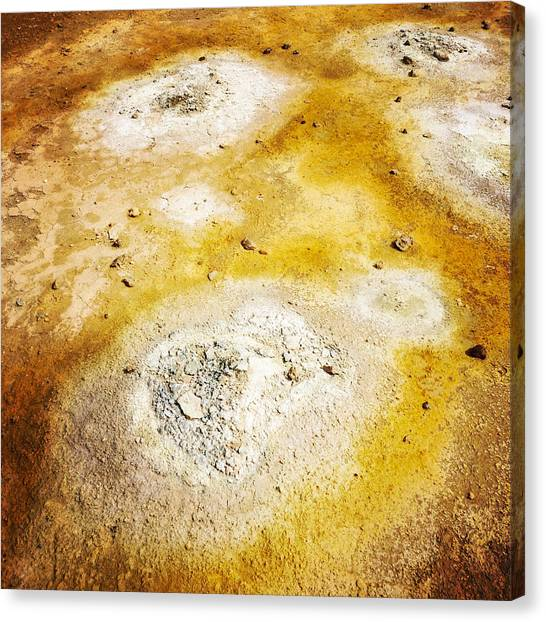 Abstract Canvas Print - Geothermal Area Detail Iceland by Matthias Hauser