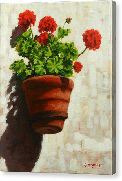Geranium Delight,peru Impression Canvas Print