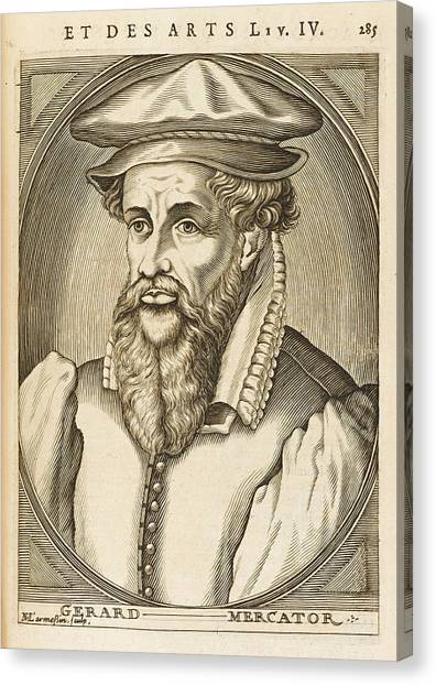 Gerardus Mercator Known Also As Gerhard Canvas Print by Mary Evans Picture Library