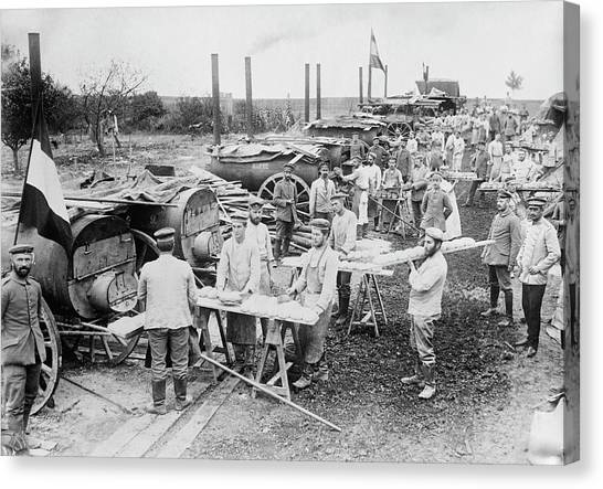 Oven Canvas Print - German Field Bakery by Library Of Congress