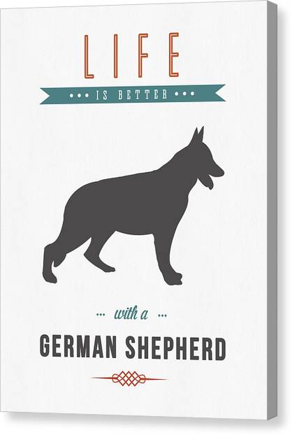 German Shepherds Canvas Print - German Shepherd 01 by Aged Pixel