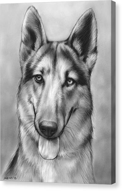 German Shepherds Canvas Print - German Shepherd by Greg Joens