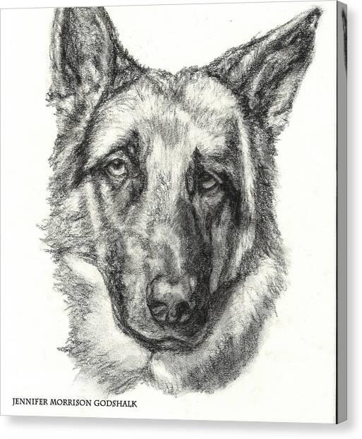 German Shepherd Sketch No.1 Canvas Print
