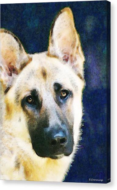German Shepherds Canvas Print - German Shepherd - Soul by Sharon Cummings