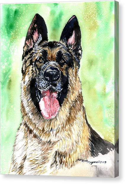 German Shepherd Canvas Print by Tracy Rose Moyers