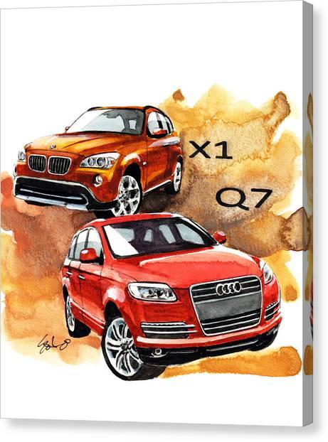 Audi Canvas Print - German Suv by Yoshiharu Miyakawa