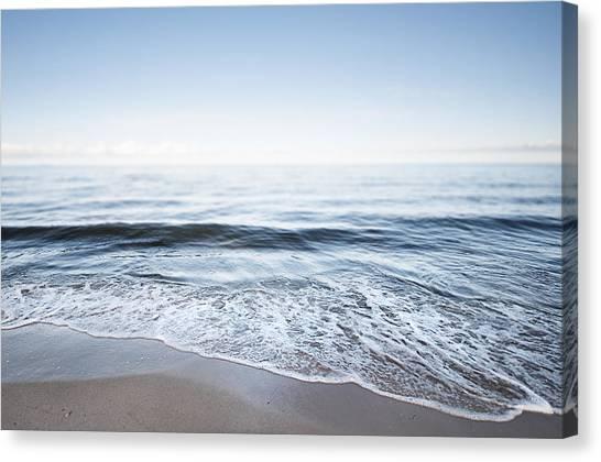 Germany, Mecklenburg-western Pomerania, Usedom, Waves On The Beach Canvas Print by Westend61