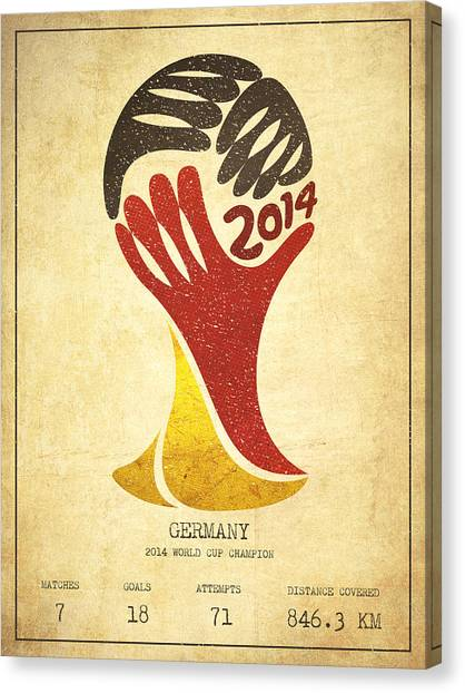 World Cup Canvas Print - Germany World Cup Champion by Aged Pixel