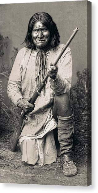 Buffalo Bills Canvas Print - Geronimo - 1886 by Daniel Hagerman