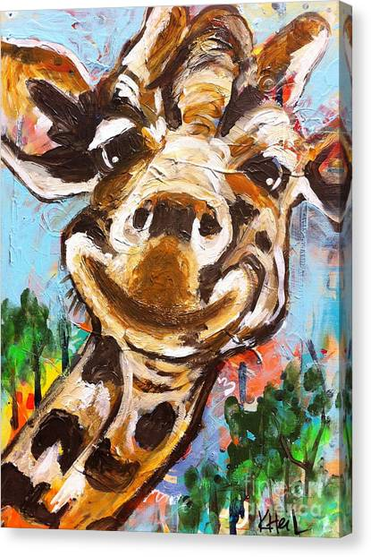 Gerry The Giraffe Canvas Print