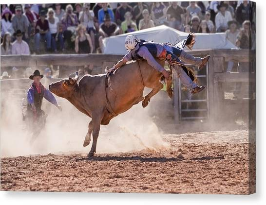 Rodeo Clown Canvas Print - Get Bucked IIi by Michelle Wrighton