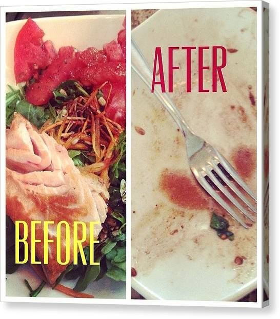 Salmon Canvas Print - Get In Ma Belly #lunch #advocare by Lyndsey Vizina