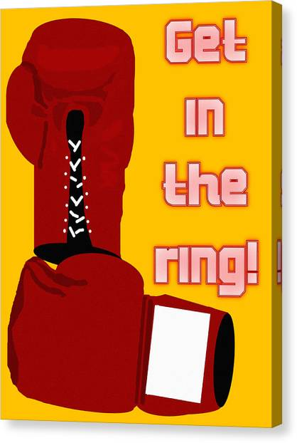 Get In The Ring Canvas Print by Pharris Art