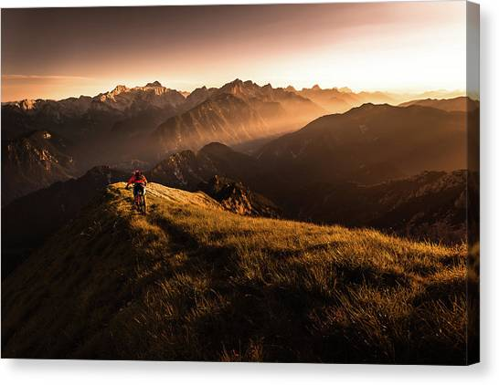 Alps Canvas Print - Get Out And Explore by Sandi Bertoncelj