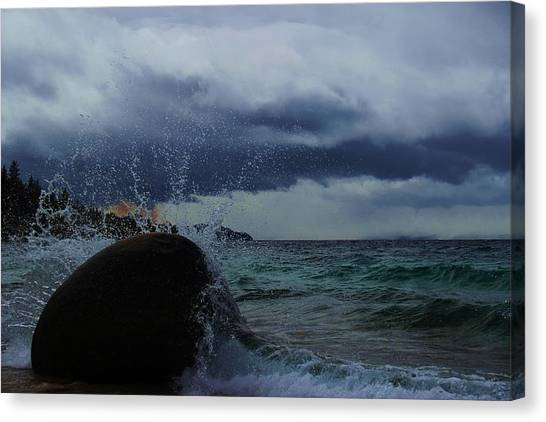 Canvas Print featuring the photograph Get Splashed by Sean Sarsfield