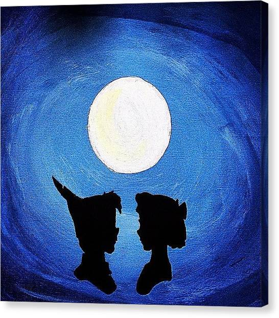 Kiss Canvas Print - Peter And Wendy by Brandon McKenzie