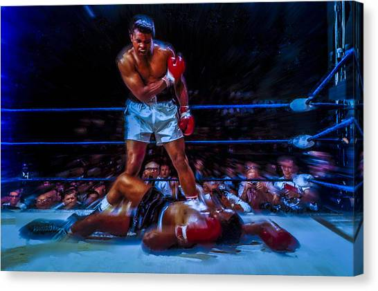 Joe Frazier Canvas Print - Get Up And Fight Sucker by Brian Reaves