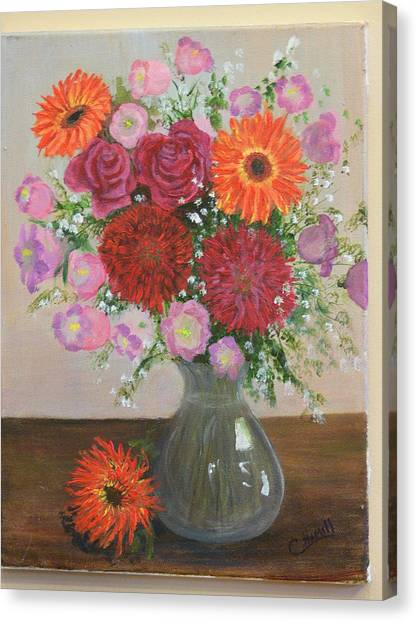 Get Well Flowers Canvas Print