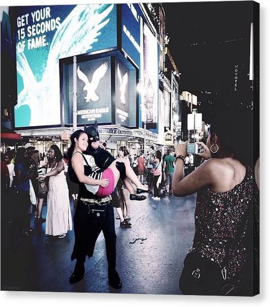 Superhero Canvas Print - Get Your 15 Seconds Of fame by Natasha Marco
