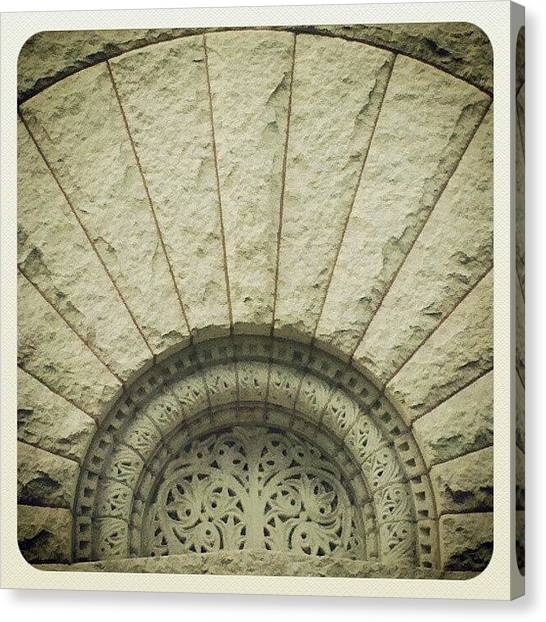 Romanesque Art Canvas Print - Gettin' My Nerd On At The Glessner House by Jill Tuinier