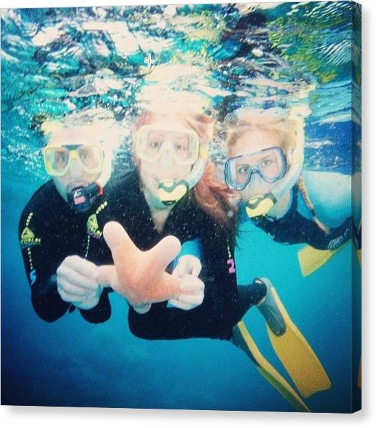 Snorkling Canvas Print - Getting Up Close And Person With With by Stephanie Talbot