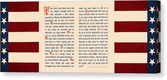 Gettysburg Address Canvas Print