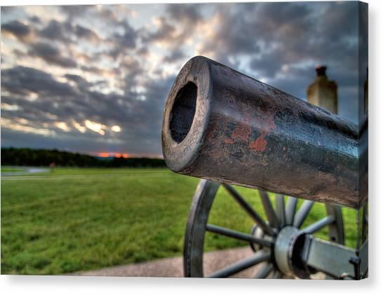 Gettysburg Canon Closeup Canvas Print