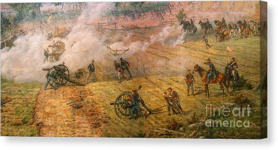 Army Of The Potomac Canvas Print - Gettysburg Cyclorama Detail One by Randy Steele
