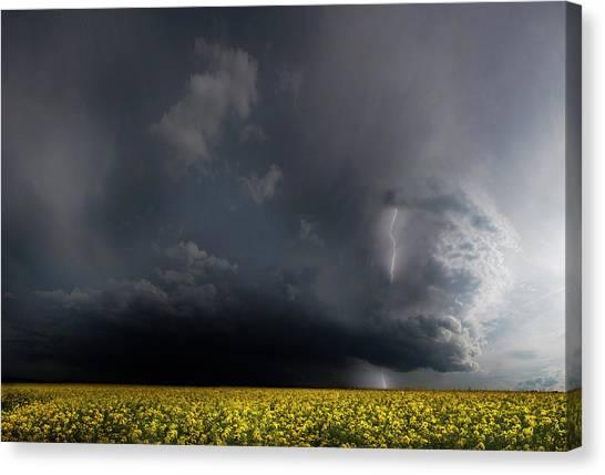 Lightning Canvas Print - Gewitterfront by Nicolas Schumacher
