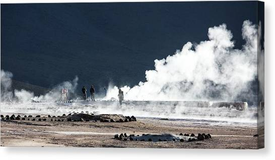 Chilean Canvas Print - Geyser Field by Peter J. Raymond