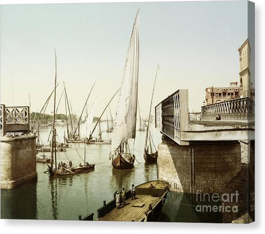Aac Canvas Print - Gezira Bridge, Cairo, Egypt, 1906 by Getty Research Institute