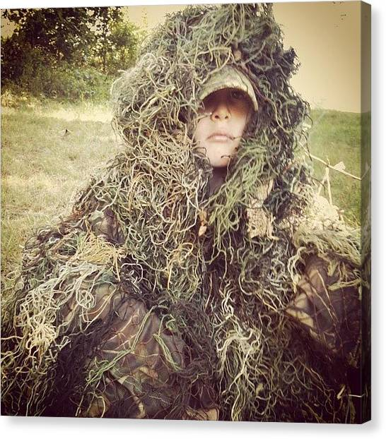 Spurs Canvas Print - Ghillie The Kid.  #outside #outdoors by Randy Taylor