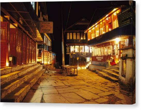 Ghorepani At Night Canvas Print by Richard Berry