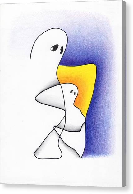Ghost And Child Canvas Print