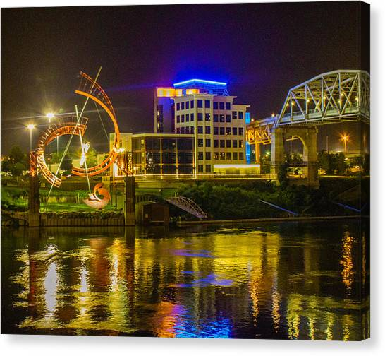 Ghost And Gold Reflections Canvas Print