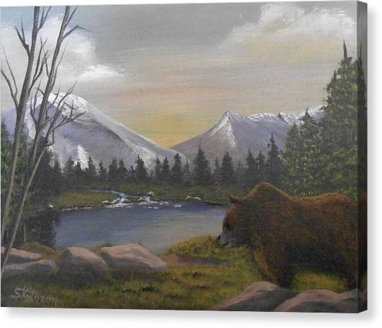Ghost Bear-the Cascade Grizzly Canvas Print