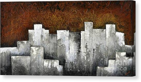 City-scapes Canvas Print - Ghost City by Shadia Derbyshire